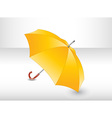 Yellow umbrella vector image