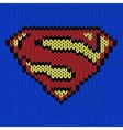 Super hero knitted logo vector image