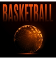 Fire basketball ball vector image
