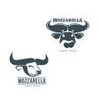 buffalo mozzarella italian cheese brand logo icon vector image