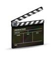 clapper board template clapboard movie vector image
