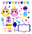 Cute party elements vector image