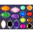 Glossy antique frame gem button collection vector image