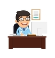 Head Physician at His Desk vector image