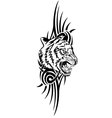 head tiger with patterns vector image