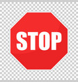 red stop sign icon danger symbol vector image