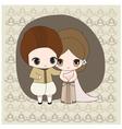 Thai wedding dress vector image