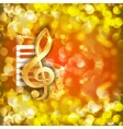 treble clef and a saxophone piano keys bright vector image