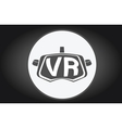 Virtual reality glasses flat icon vector image