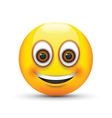 emoji smiling brown eyes vector image vector image