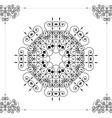 Beautiful ornamental rosette or mandala vector image