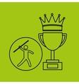 silhouette person javelin winner sport vector image