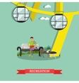Recreation in amusement park concept vector image