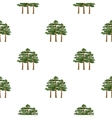 Pine icon in cartoon style for web vector image