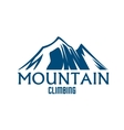 Mountain climbing sport isolated icon vector image vector image