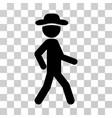 walking gentleman icon vector image