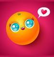 kawaii orange vector image