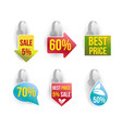 wobbler set with advertising sale text vector image