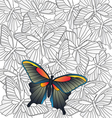 Butterfly Retro background vector image
