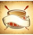 Vintage Drum Emblem vector image vector image
