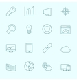 Thin SEO Icons vector image