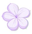 A five-petal violet flower vector image vector image