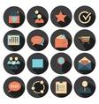 Flat design - icons set vector image