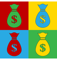 Pop art money icons vector image