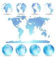 Dotted map and Globes vector image vector image