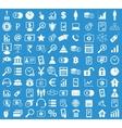 Management icon set blue vector image
