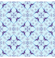 Blue christmas pattern vector image