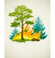 wildfire disaster with vector image vector image