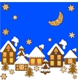 Background with Christmas gingerbread vector image vector image