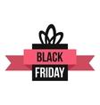 Black Friday gift box icon flat style vector image