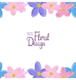border with forget-me-not flowers vector image