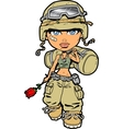 Female Soldier vector image