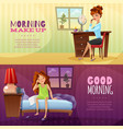 good morning horizontal banners vector image