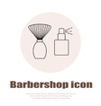Linear barbershop icons set Universal hairstyle vector image