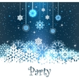 Merry Christmas Party Card vector image