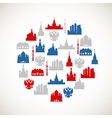 Moscow colorful icons vector image