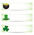 Saint Patricks day banners vector image