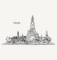 thai culture concept with han draw sketch temple vector image