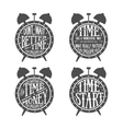 time quotes lettering vector image