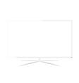 White LED Television - Design vector image