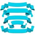 Retro ribbons set vector image vector image