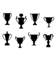 Sport awards and trophies vector image vector image