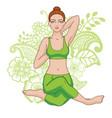 women silhouette mermaid yoga pose eka pada raja vector image