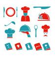 kitchen icons set vector image