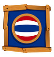 flag of thailand on wooden frame vector image