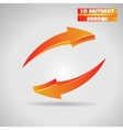 abstract orange arrows 3d vector image
